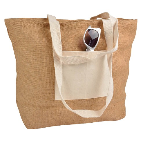 Jute strandtas - shopper