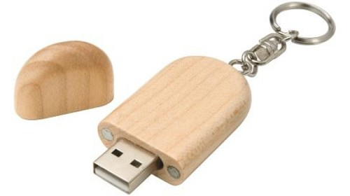 Smooth houten usb stick 4gb.