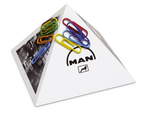Paperclip houder piramide gerecycled
