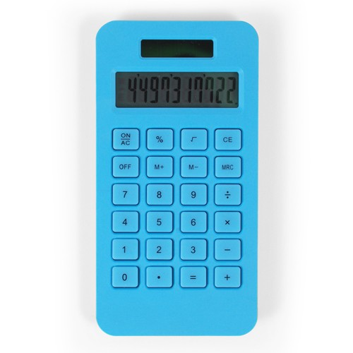 Bioplastic calculator op zonnecel mini