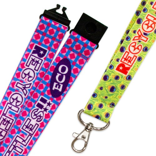 Lanyards van gerecycled pet vilt