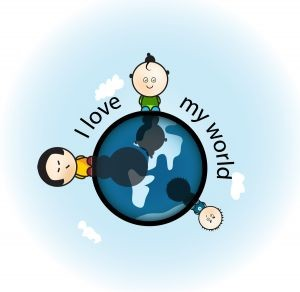 i love my world - Groot (Afbeelding)
